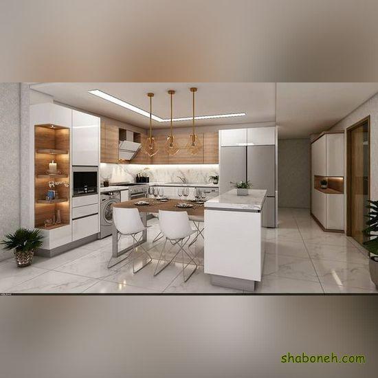 مدلهای کابینت آشپزخانه ایرانی سفید رنگ