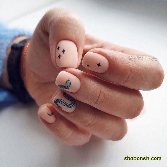 طراحی ناخن دخترانه اینستاگرام