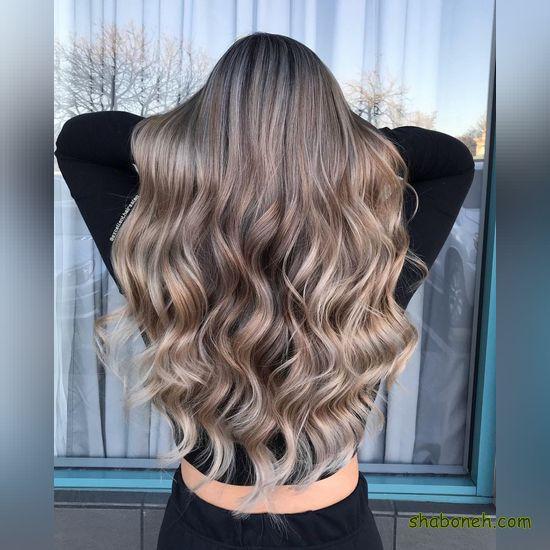 رنگ مو ترکیبی روشن