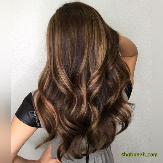 رنگ مو ترکیبی دخترانه