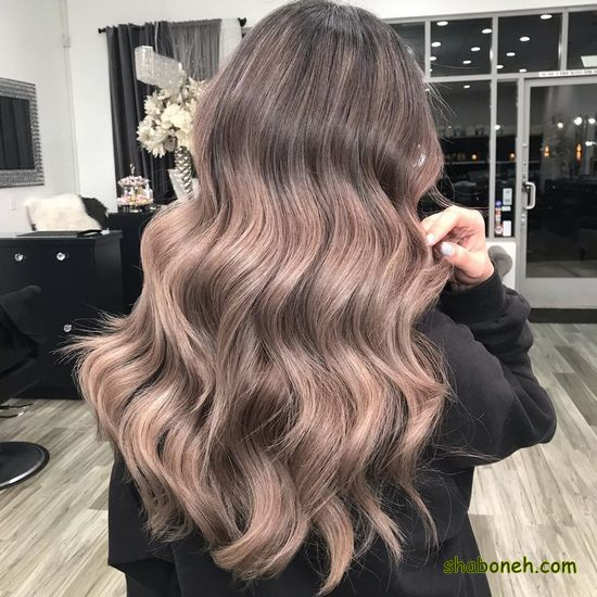 هایلایت روشن روی موی مشکی