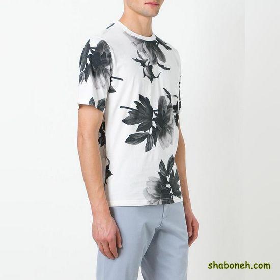 مدل تیشرت تابستانه اسپرت سفید خاکستری رنگ