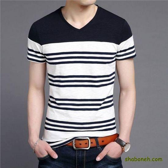 شیک ترین مدلهای تیشرت مردانه سفید و مشکی