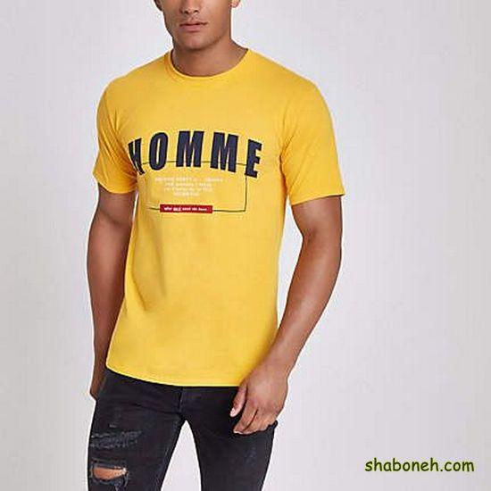 خرید شیک ترین مدل تیشرت مردانه زرد رنگ