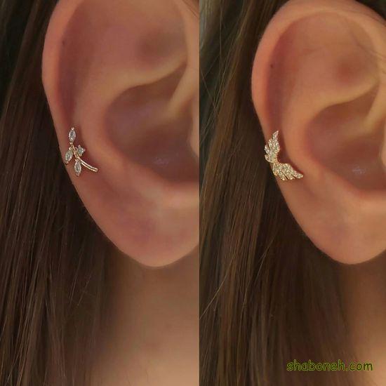 گوشواره های جدید طلا دخترانه