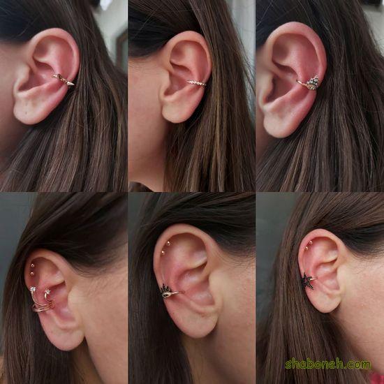 جدیدترین مدلهای گوشواره بخیه ای