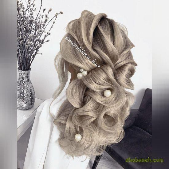 مدل شینیون خطی برای موهای کوتاه
