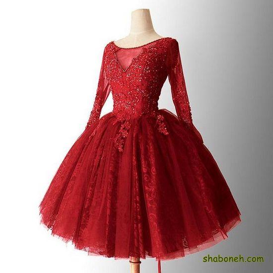 لباس مجلسی زیبا کوتاه جدید