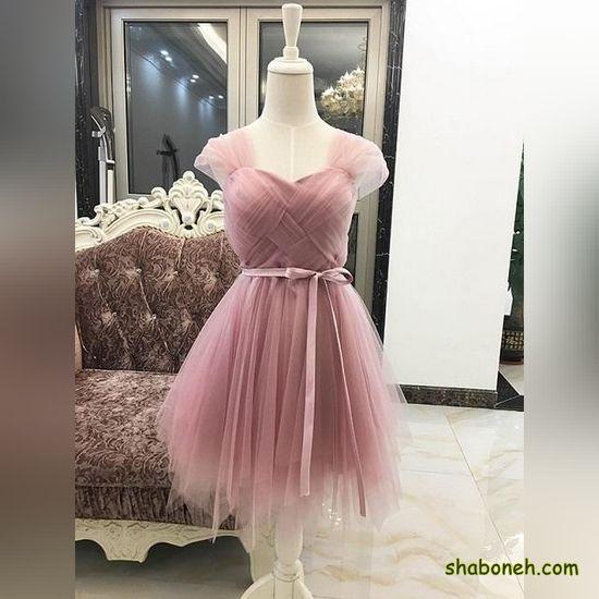 لباس مجلسی کوتاه گیپور