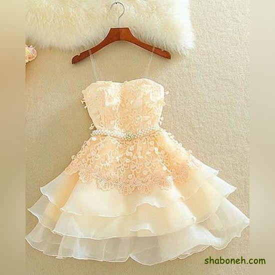 انواع لباس مجلسی کوتاه گیپور