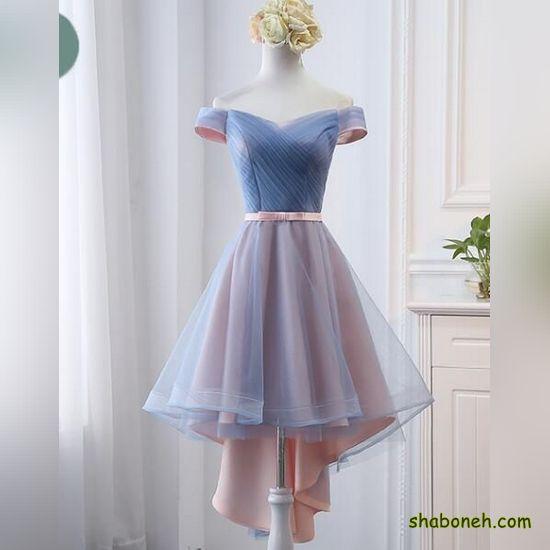 لباس مجلسی کوتاه زنانه لمه