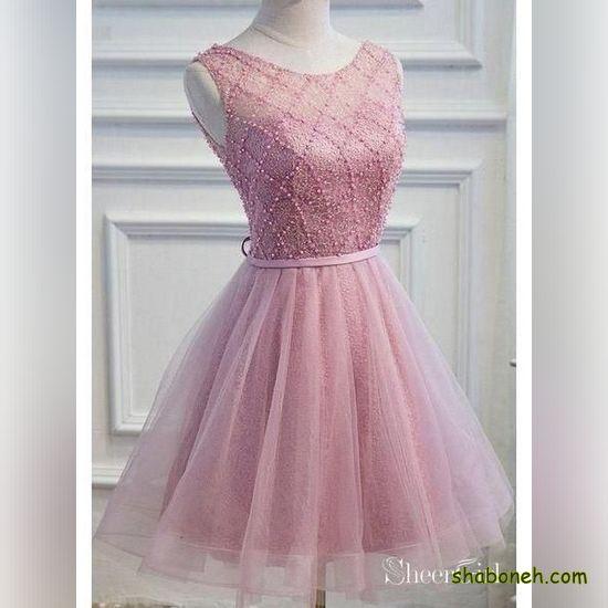 لباس مجلسی کوتاه دخترانه 99