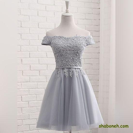 لباس مجلسی کوتاه دخترانه شیک در اینستاگرام