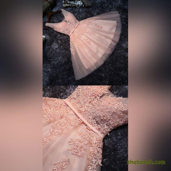لباس مجلسی کوتاه دخترانه 1399