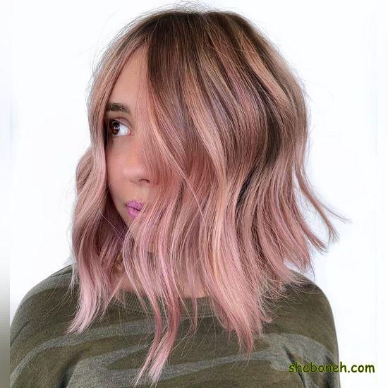 مدل رنگ مو تیره شیک کوتاه