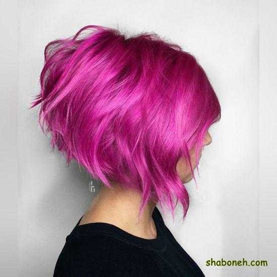 مدل رنگ مو تیره و روشن کوتاه