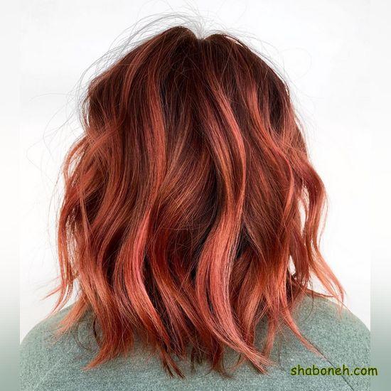 رنگ مو ترکیبی جدید کوتاه