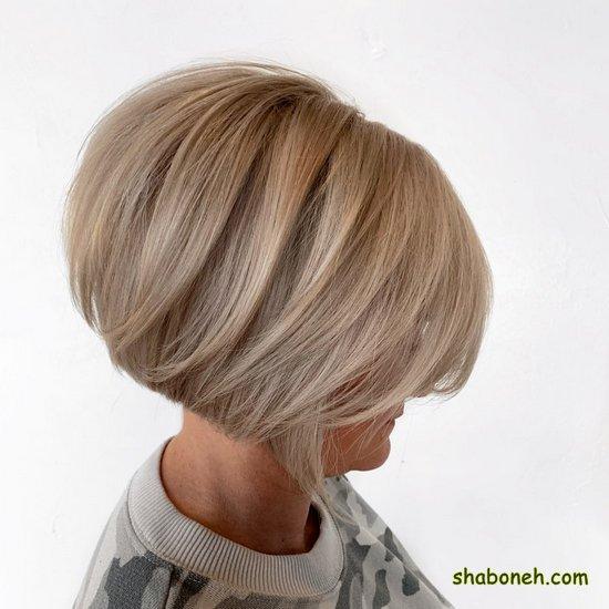 مدل رنگ مو مش هایلایت کوتاه