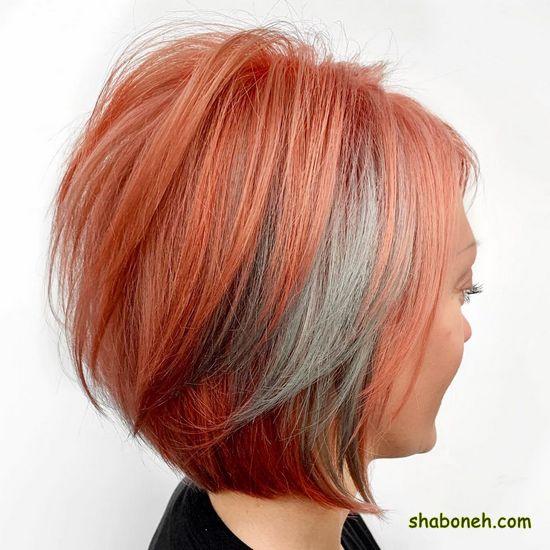 رنگ مو ترکیبی زیتونی کوتاه