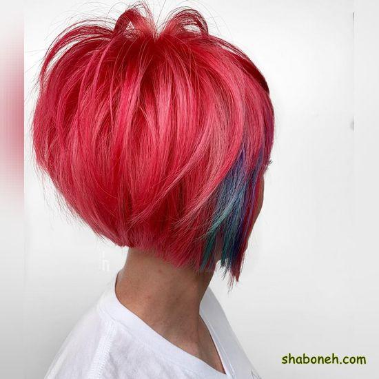 مدل رنگ مو عروس کوتاه