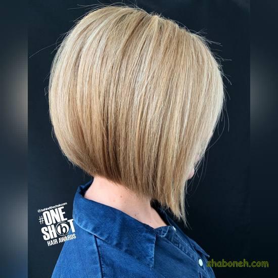 مدل رنگ موی آمبره کوتاه