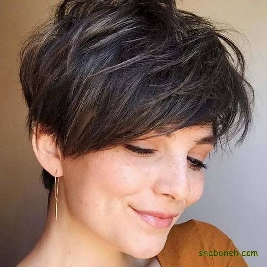 مدل مو کوتاه زنانه صورت گرد