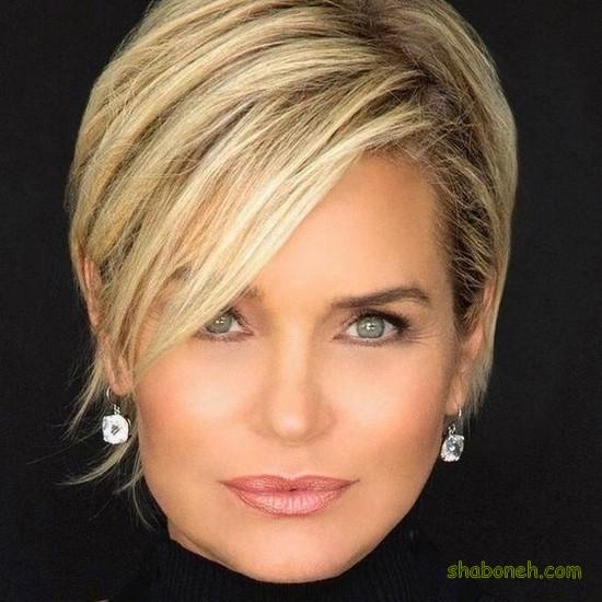 مدل مو کوتاه زنانه برای موهای حالت دار