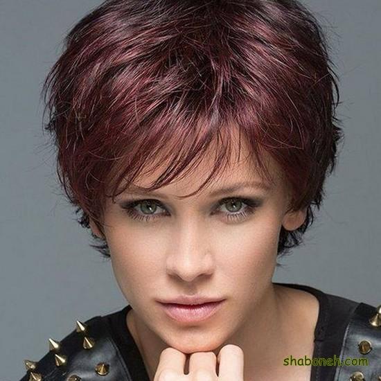 مدل مو کوتاه زنانه برای صورت گرد