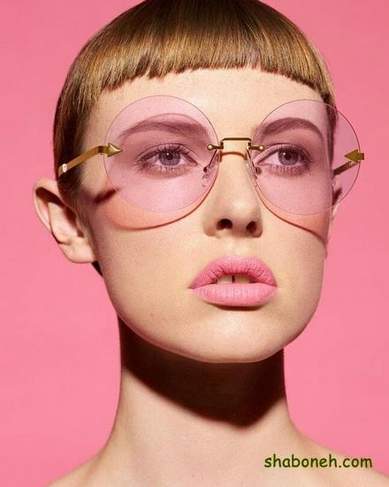 مدلهای عینک آفتابی زنانه صورتی رنگ
