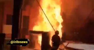 فیلم آتش سوزی وحشتناک در برنامه میدون