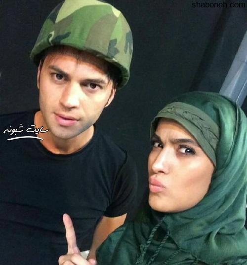 بیوگرافی امید ماهر و همسرش (بازیگر نقش سینا در سریال بچه مهندس) +عکس