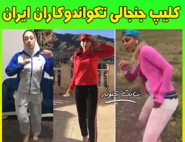 کلیپ جنجالی چالش تکواندوکاران زن و مرد ایرانی
