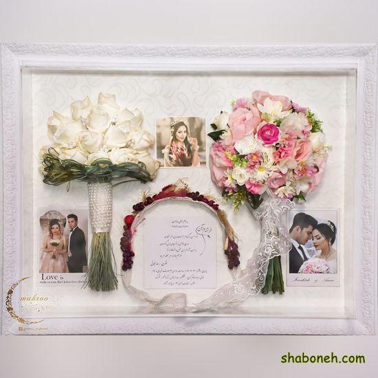 دسته گل خاص عروس رز قرمز