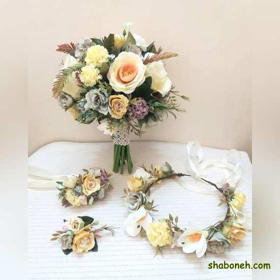 عکس دسته گل عروس سفید