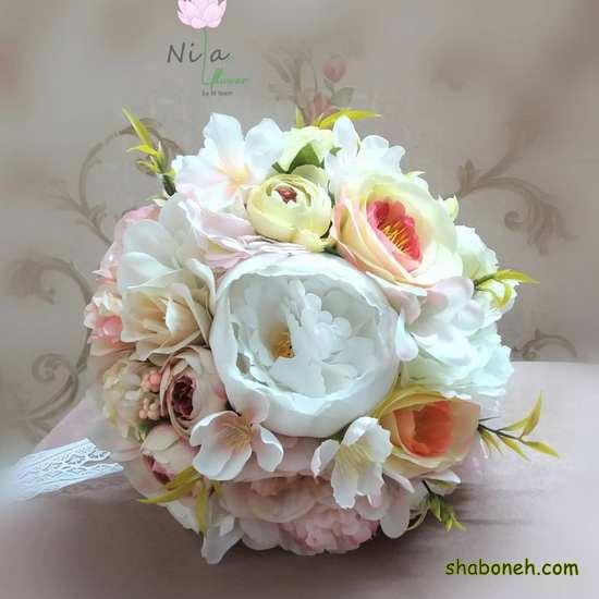 دسته گل عروس شیک و ساده