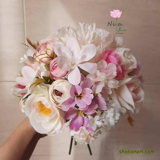 دسته گل عروسی شیک اروپایی