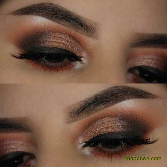 آرایش چشم دخترانه مجلسی