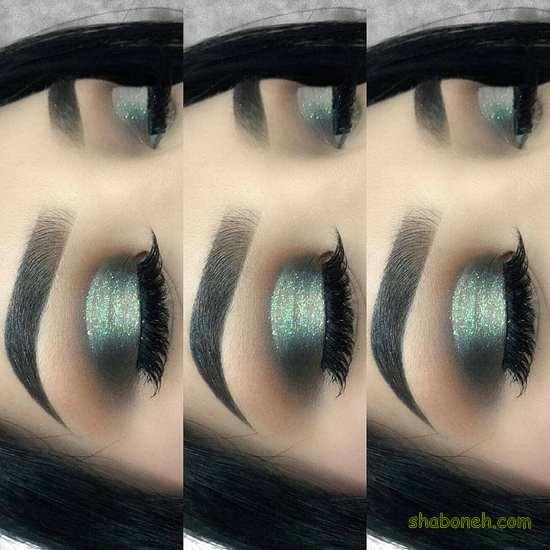 ارایش چشم لایت گوشه تیره