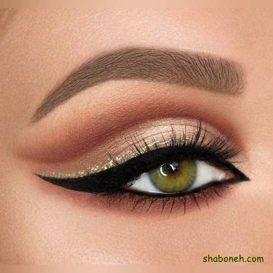 مدل آرایش چشم ملایم