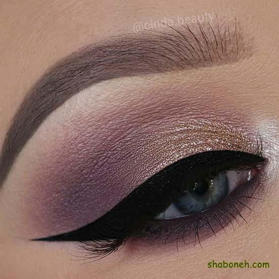 مدل آرایش چشم شیک مجلسی