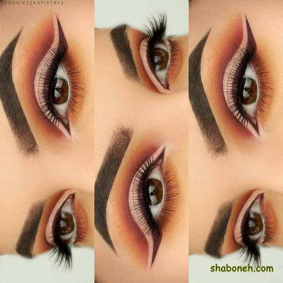 مدل آرایش چشم ملایم مجلسی