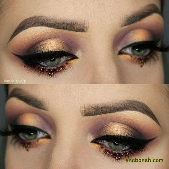 زیباترین مدل سایه ی چشم آرایش چشم ساده