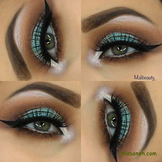 آرایش چشم ساده اما زیبا