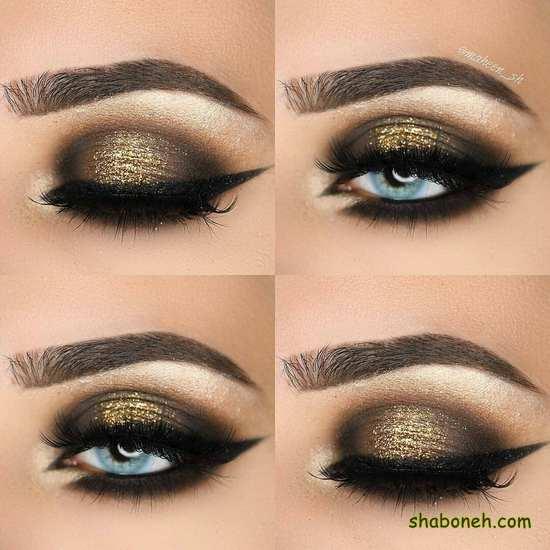 آرایش چشم مجلسی ساده