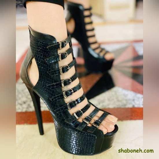 عکس کفش پاشنه بلند مشکی