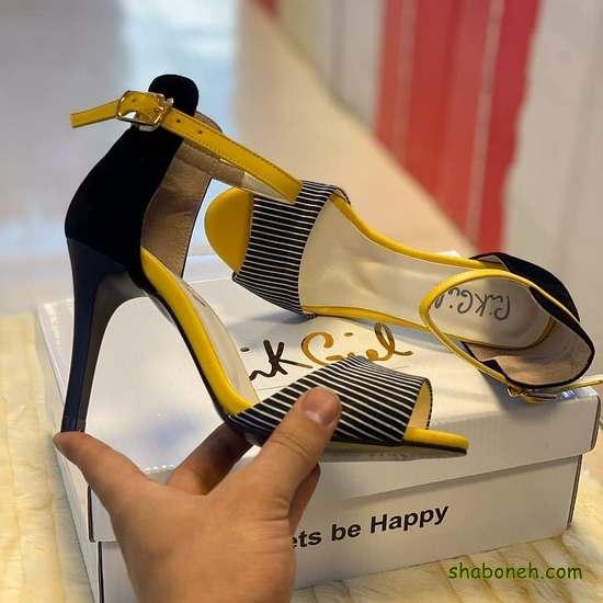 عکس کفش پاشنه بلند مجلسی دخترانه