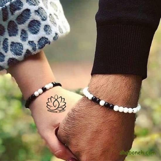 دستبند ست دختر و پسر چرمی عاشقانه ، مهره ای و استیل جفت 2021 و 1400