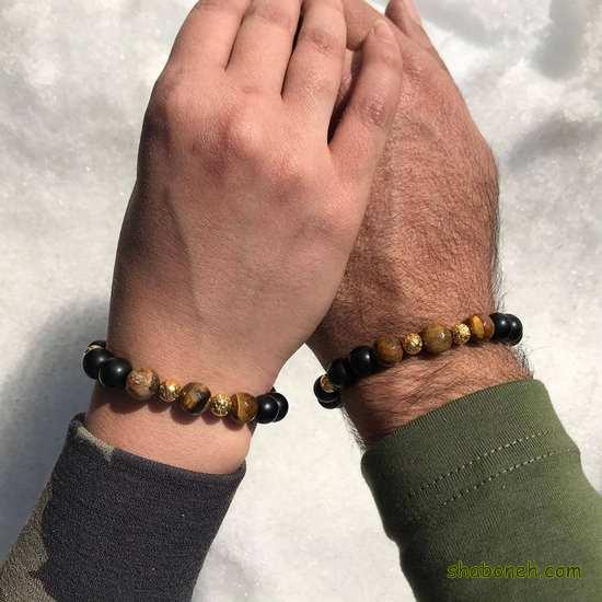دستبند ست دختر و پسر عاشقانه ، مهره ای و استیل جفت 2021 و 1400