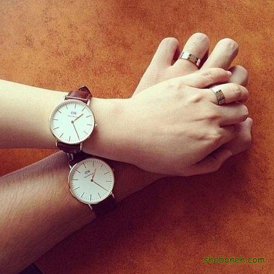 ساعت های ست عروس و داماد صفحه تمام سفید رنگ