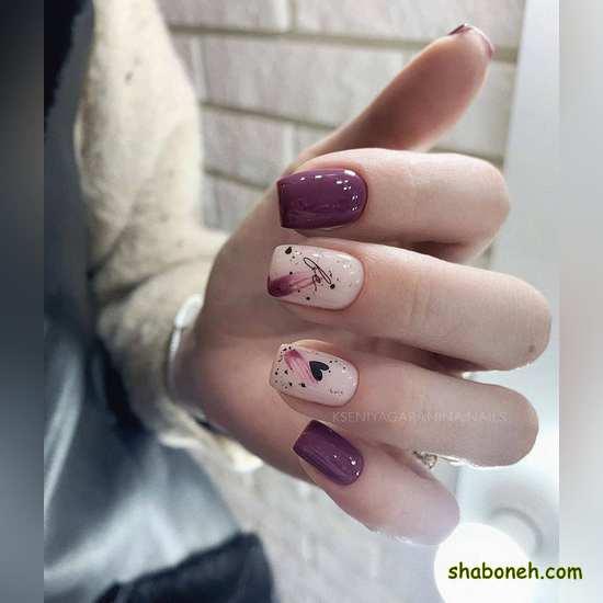 عکس از طراحی ناخن جدید